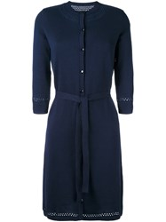 A.P.C. Belted Sweater Dress Blue