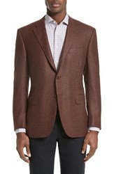 Canali Men's Classic Fit Houndstooth Wool Sport Coat