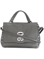 Zanellato Fold Over Closure Crossbody Bag Grey