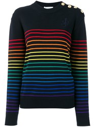 J.W.Anderson Jw Anderson Striped Sweater Blue