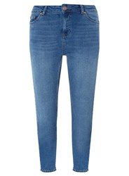 Dorothy Perkins Mid Wash Straight Fit Jeans Blue