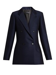 Joseph Bailey Cotton Blend Faille Jacket Navy