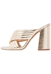 Dorothy Perkins Sydney Sandals Metallic Gold