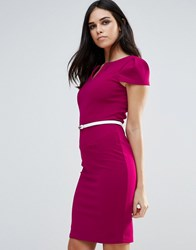 Paper Dolls Pencil Dress With Belt Pink