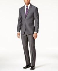 Vince Camuto Men's Slim Fit Charcoal Gray Suit