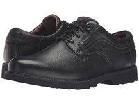 Dunham Revdusk Black Smooth Men's Lace Up Casual Shoes
