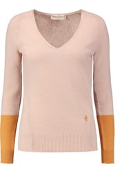 Emilio Pucci Two Tone Cashmere Sweater Antique Rose