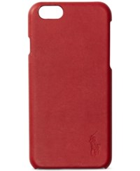 Polo Ralph Lauren Men's Leather Iphone 7 Case Red