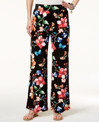 Inc International Concepts Petite Floral Print Wide Leg Pants Only At Macy's Butterfly
