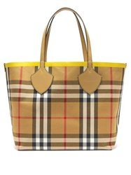 Burberry The Giant Reversible Cotton Tote Yellow Multi