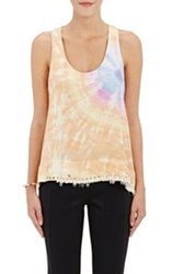 Paco Rabanne Grommet Trimmed Tie Dyed Tank Pink Size 36 Fr