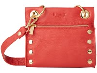 Hammitt Tony Flare Buff Gold Cross Body Handbags Red