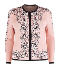Basler Floral Beaded Cardigan Female Multi
