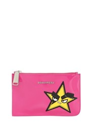 Dsquared Small Hand Patch Patent Leather Pouch