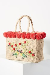 Serpui Marie July Bird Tote Bag Red