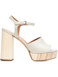 Derek Lam Plaform Sandals White