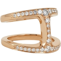 Hoorsenbuhs Diamond And Rose Gold Dame Phantom Ring