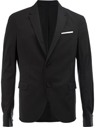 Neil Barrett Dinner Jacket Men Cotton Polyamide Polyester Viscose 50 Black