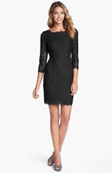 Women's Adrianna Papell Lace Overlay Sheath Dress Black