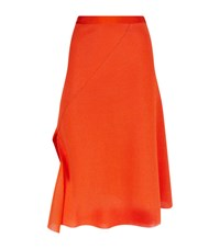 Victoria Beckham Double Face Folded Wrap Skirt Female Orange