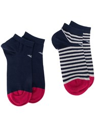 Emporio Armani Pack Of Two Socks Blue