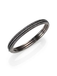 Adriana Orsini Pave Crystal Three Row Bangle Bracelet Metal
