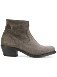 Fiorentini Baker Ankle Boots Leather Suede Rubber Grey