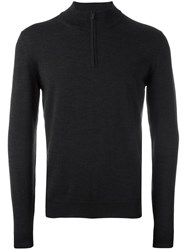 Zanone Half Zip Jumper Grey