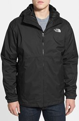 The North Face Men's 'All About' Triclimate Waterproof Hooded 3 In 1 Hyvent Jacket Tnf Black Tnf Black