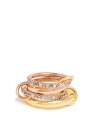 Spinelli Kilcollin Cancer Diamond Yellow And Rose Gold Ring