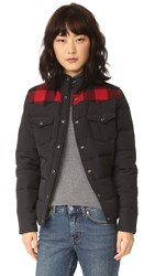Penfield Rockford Plaid Yoke Down Jacket Black