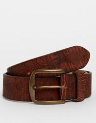 Racing Green Leather Casual Belt Tan