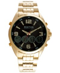 Kenneth Cole Reaction Men's Analog Digital Gold Tone Alloy Bracelet Watch 51X63mm 10030988