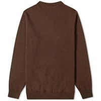 Mhl By Margaret Howell High Neck Knit Brown