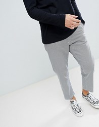 Obey Straggler Houndstooth Pant In Straight Fit Black