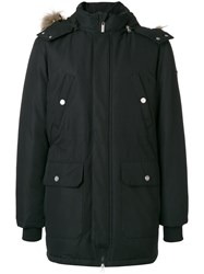 Versace Jeans Classic Padded Coat Feather Down Polyester Black