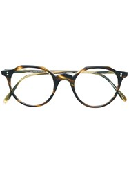 Oliver Peoples Round Frame Glasses Brown