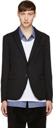 Msgm Black Unfinished Blazer