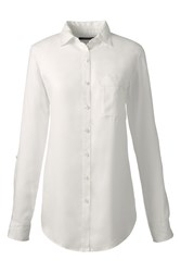 Lands' End Soft Roll Sleeve Shirt Cream