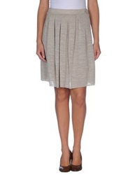 Soallure Knee Length Skirts Light Grey