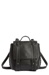Allsaints Fin Mini Leather Convertible Backpack Black
