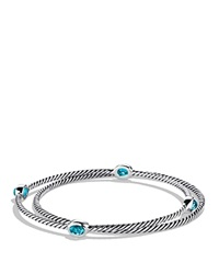 David Yurman Color Classics Bangles With Blue Topaz