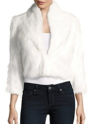 Bcbgeneration Cropped Faux Fur Jacket Whisper