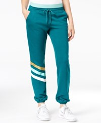 Jessica Simpson The Warm Up Juniors' Logo Jogger Pants Only At Macy's Midnight Lagoon