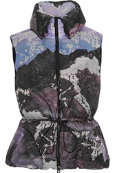 Peter Pilotto Cara Printed Quilted Shell Gilet Purple
