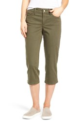 Nydj Women's Marilyn Stretch Cotton Crop Pants Topiary