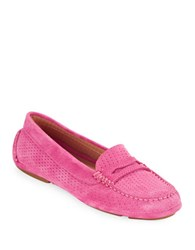 Aquatalia By Marvin K Sawyer Suede Loafers Pink