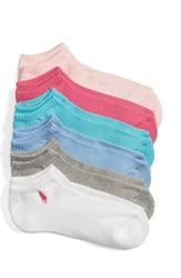 Ralph Lauren Women's Sport 6 Pack Low Cut Socks Pastel Assorted