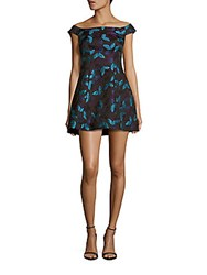 Cynthia Rowley Embroidered Off The Shoulder Dress Frost Blue