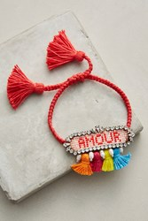 Anthropologie Athna Amour Bracelet Pink